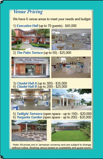 Venue Pricing