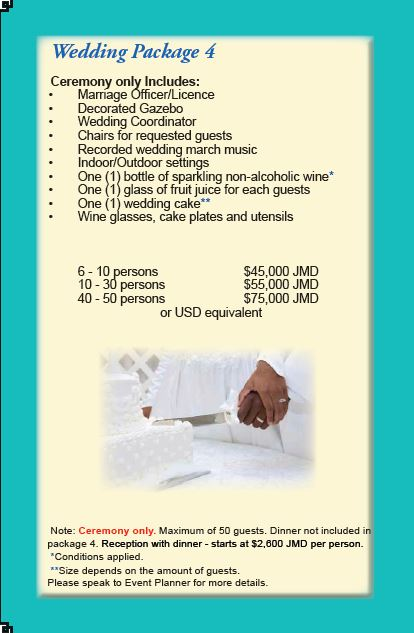 Wedding package 4